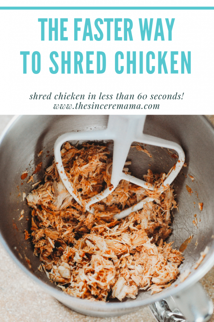 shred chicken with a kitchen aid